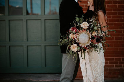Thistle & Dot Floral Design Sioux Falls SD Moody Boho Wedding Flowers Styled Shoot