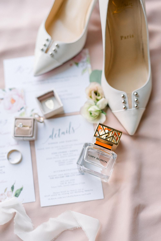 Blush Garden Wedding Sioux Falls SD Bridal Details Thistle and Dot Floral Design