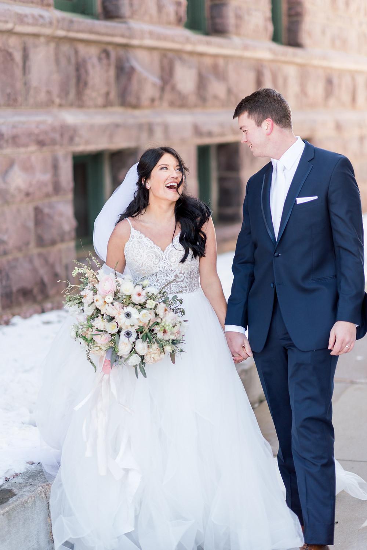 Blush Garden Wedding Sioux Falls SD Thistle and Dot Floral Design