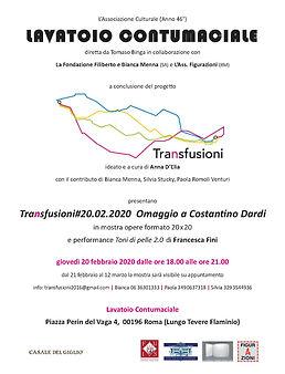 locandina DARDI Transfusioni 20.02.2020.