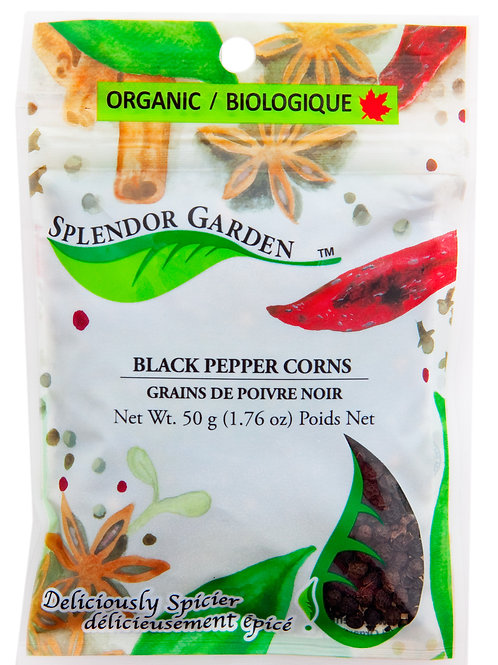 Organic Peppercorn Black 50g