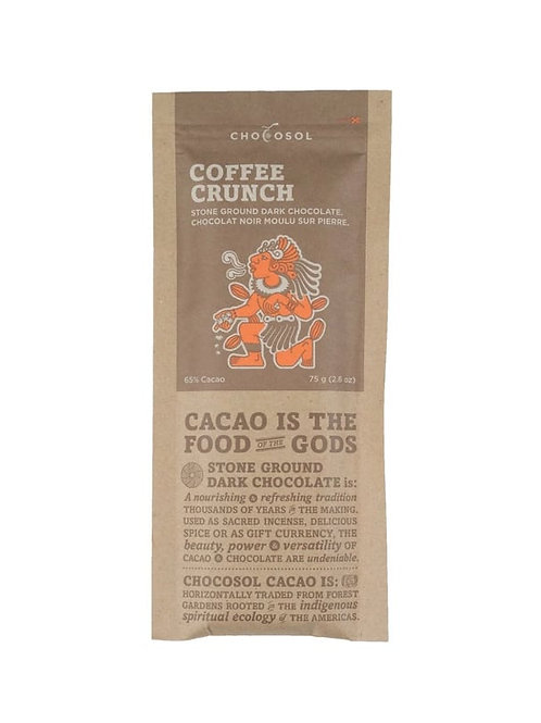 Coffee Crunch 65% Chocosol Bar