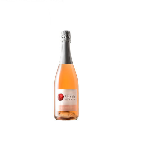 Brut Rose Bottle Sue Ann Staff Winery