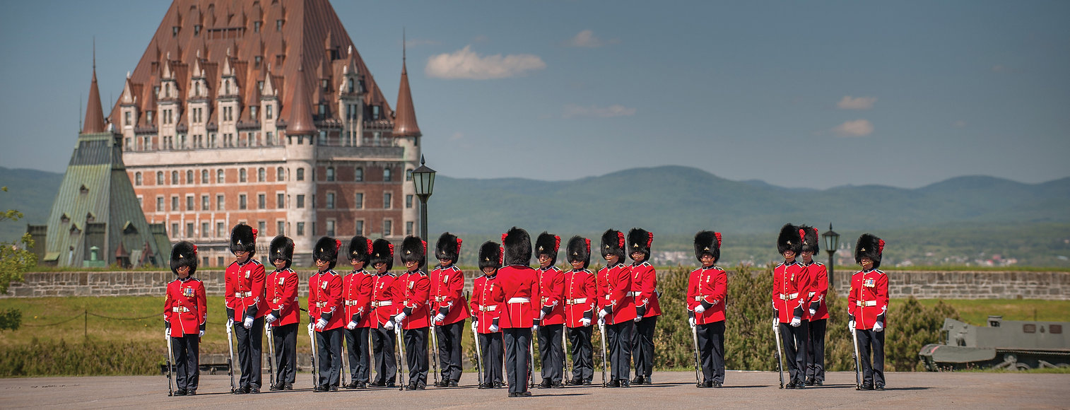 Guards standing by Ottawa Parlaiment building