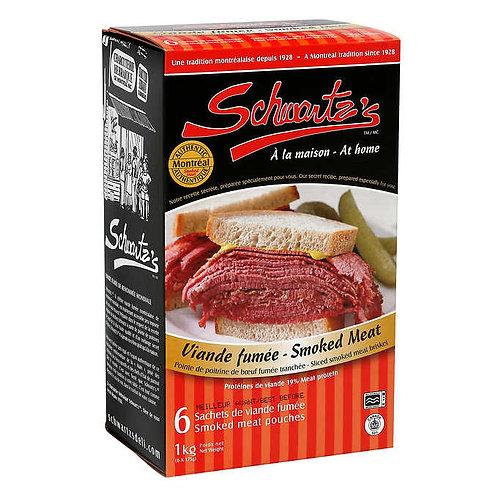 Schwartz's Smoked Meat Pouches 6 × 175 g