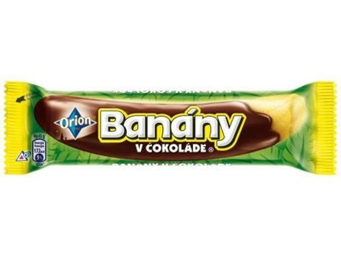Orion Bananas Jelly In Chocolate 45g