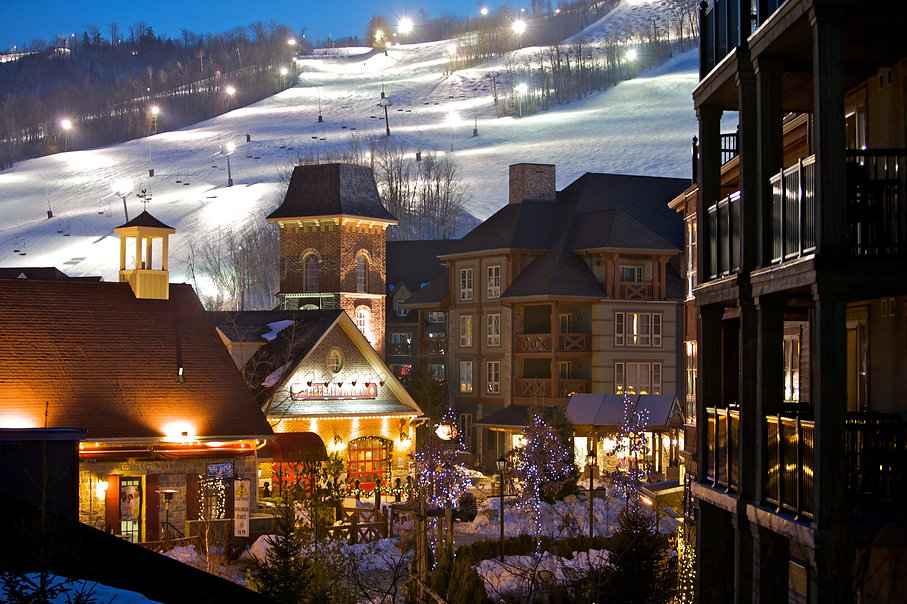Blue Mountain Village with sk slopes