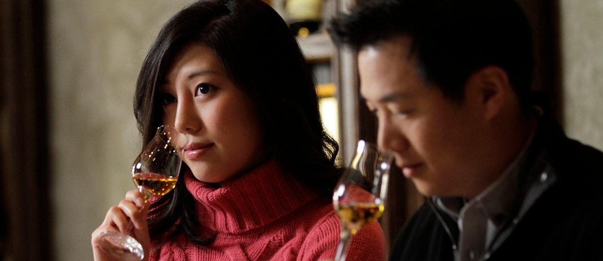 Couple does icewine tasting
