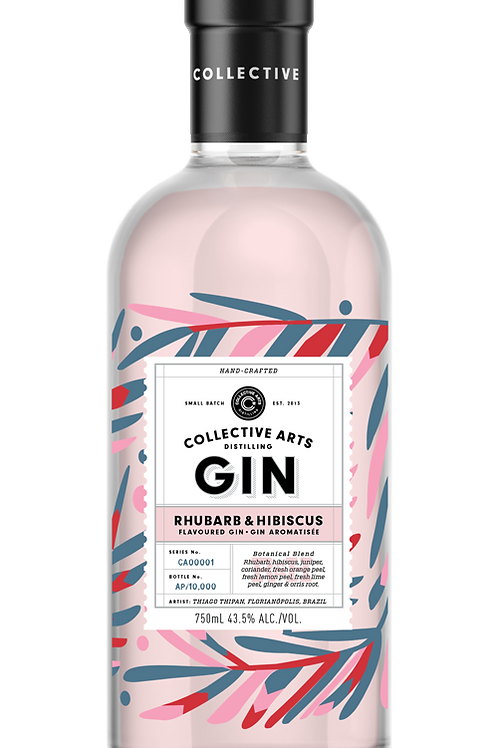 RHUBARB & HIBISCUS GIN Collective Arts
