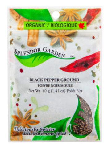 Organic Pepper Ground, Black 40g