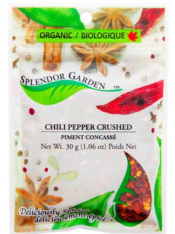 Organic Chili Pepper Crushed 30g