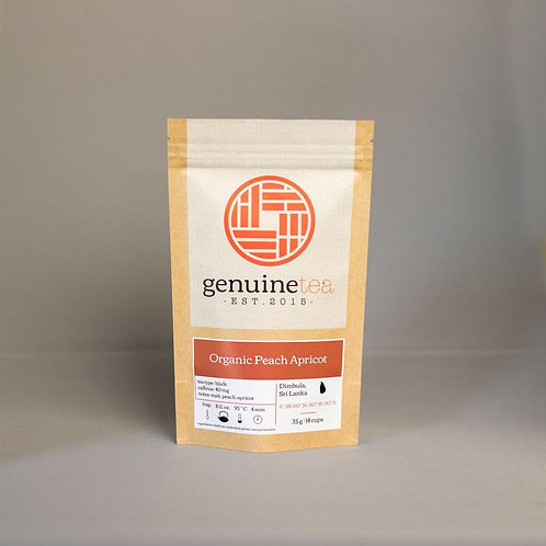 Organic Peach Apricot, Genuine Tea Co. 35g