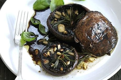 Portobello Mushrooms With Parmesan and Garlic Marinade