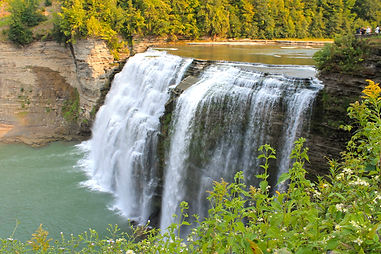 lower falls at the letchworth state park