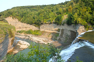 grand canyon of the east. Lookout view of letchworth state park
