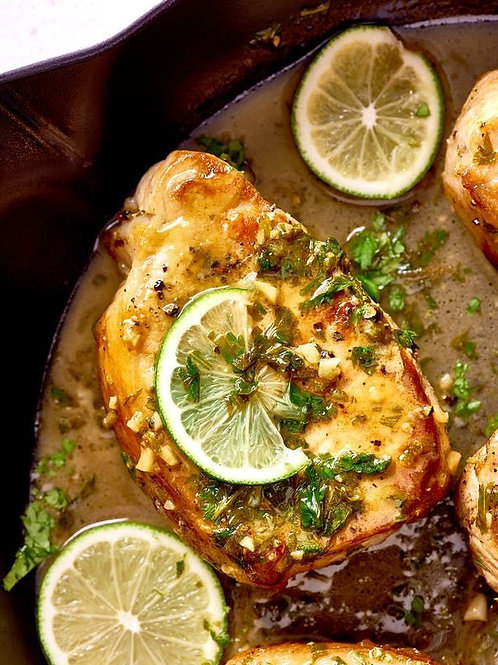 Rib Pork Chop With Organic Cilantro & Lime Marinade