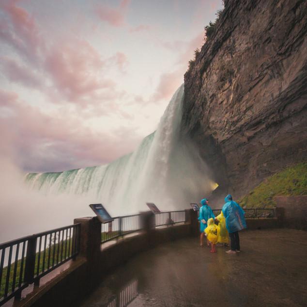 Jurney behind the falls