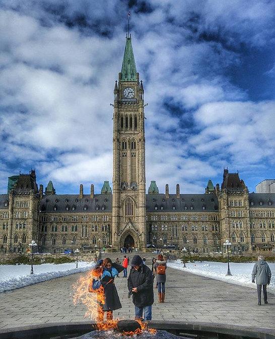 Parliament building in Canada's Capital Ottawa
