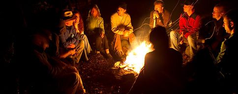 Campfire an Camping in Bruce Peninsula