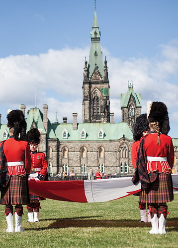 Changing guards by Ottawa's parlaiment building