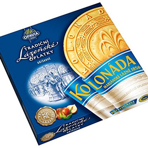 Original Czech Spa Round Wafers with Nuts Filling