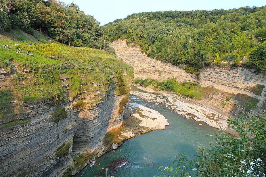 gorge of the letchworth state park in usa