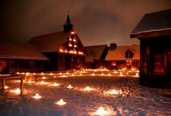 Candles at Sainte Marie Among the Hurons