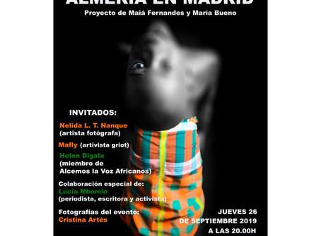 """Cristina Artés participa en """"Fridafro #4 Almería en Madrid"""""""