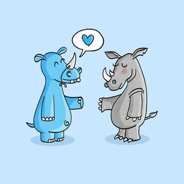 Hippo Rhino Love