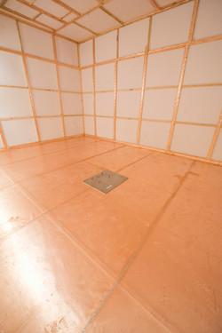 shielded floor in an mri room
