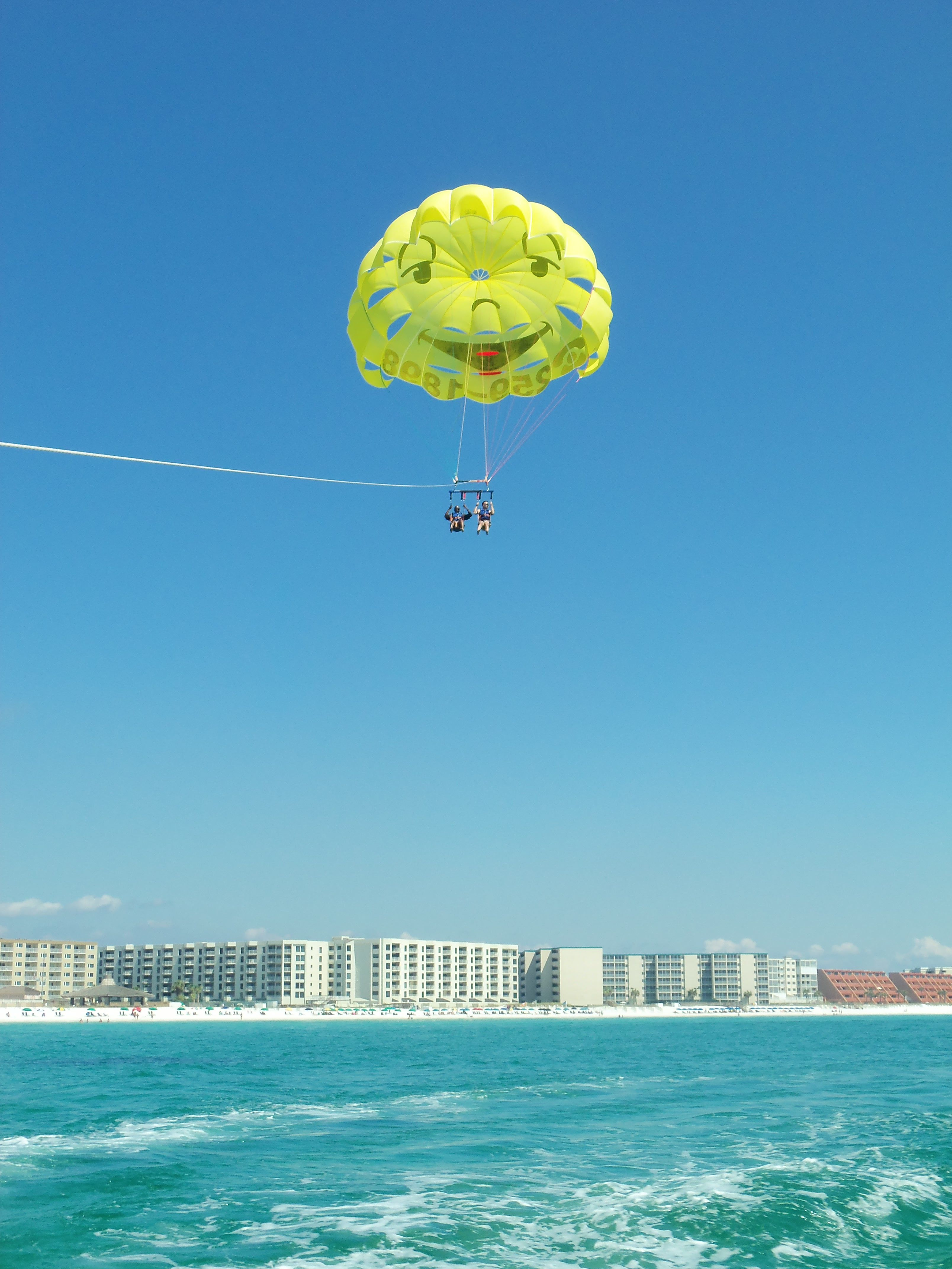 Parasailing over Destin Beach