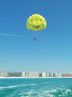Parasailing over Destin Beach