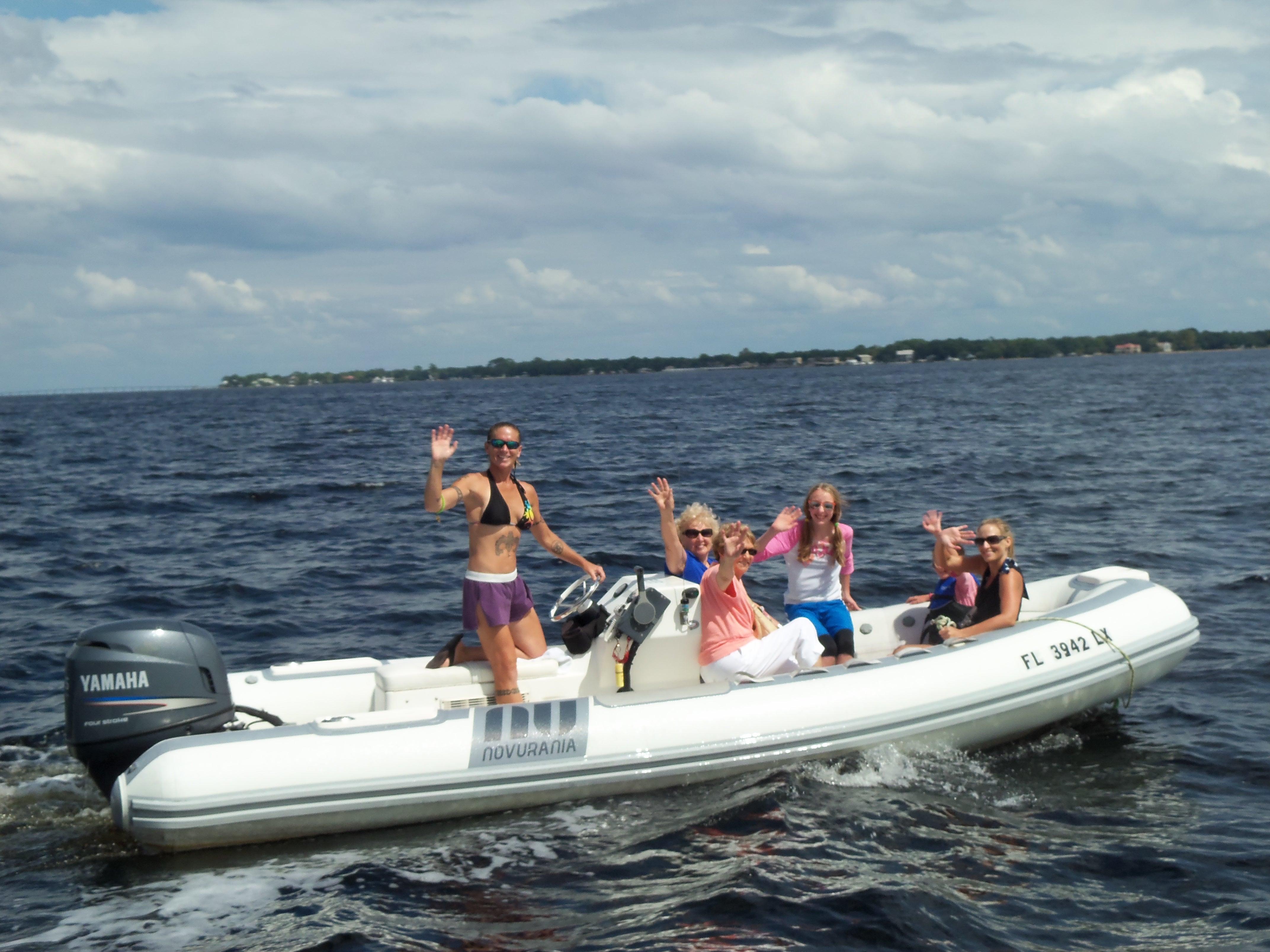 Sun Dogs' Shuttle Boat