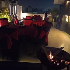 A cold Delhi evening set for a Bar be que