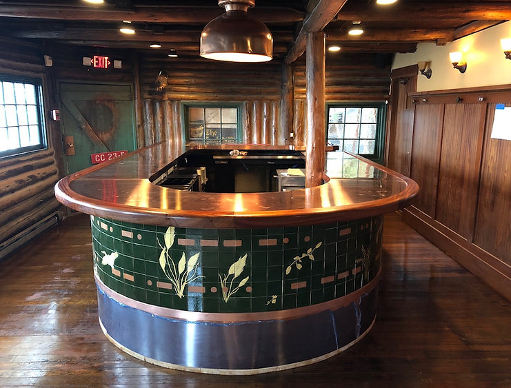 Custom-Built-Copper-Bar-Mahogany-Trim-Genral-Contractor-Captain-Whidbey-Inn-All-Island-Construction