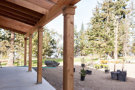 All Island Construction Custom Building and General Contracting Company on Whidbey Island, Custom Residential Cedar Column Post Wraps