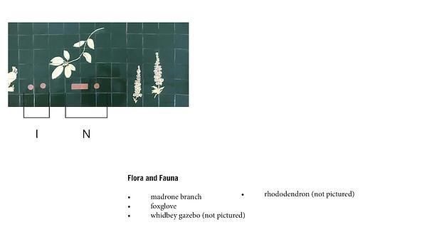 Mixed Needs, Tile Artist, Gabi Villanesor, Hand Painted Tile, Captain Whidbey Inn Bar
