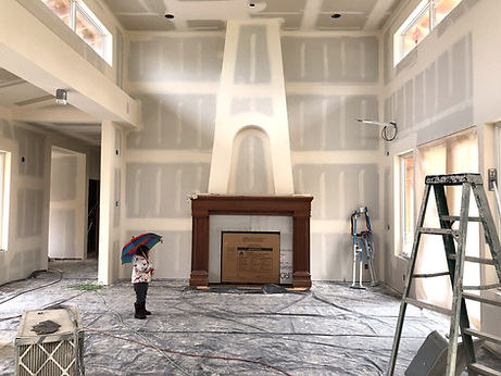 All Island Construction Custom Building and General Contracting Company on Whidbey Island, Custom Residential Fireplace with Archd Alcove