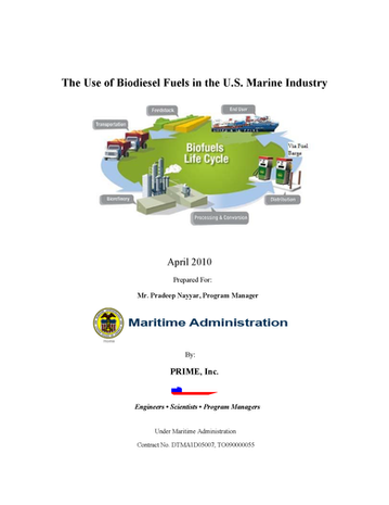 Biodiesel Fuels in the Maritime Industry
