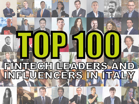 Top 100 FinTech leaders and influencers in Italy (2019)