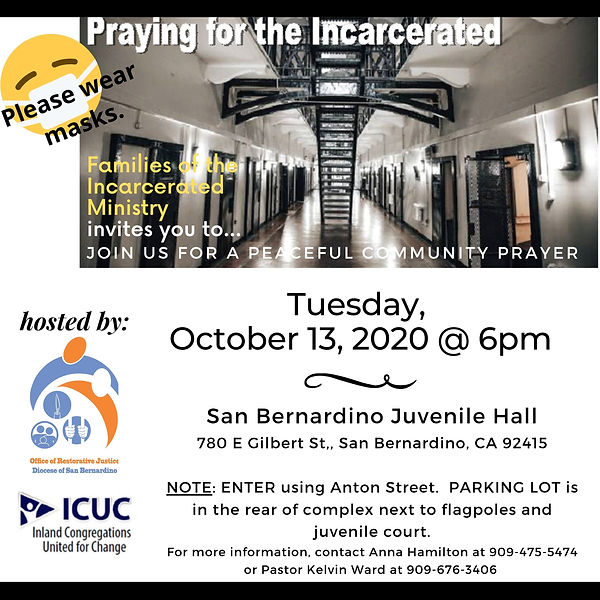 Incarcerated Community Prayer-Oct 2020 .