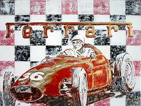 FERRARI 246 WITH DRIVER PHIL HILL, 1960