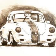 Ink wash, little old Porsche.jpg