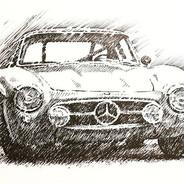 57 Mercedes 300 SL Gullwing. Black India