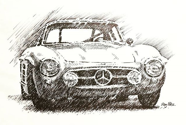 57 Mercedes 300 SL Gullwing. Black India