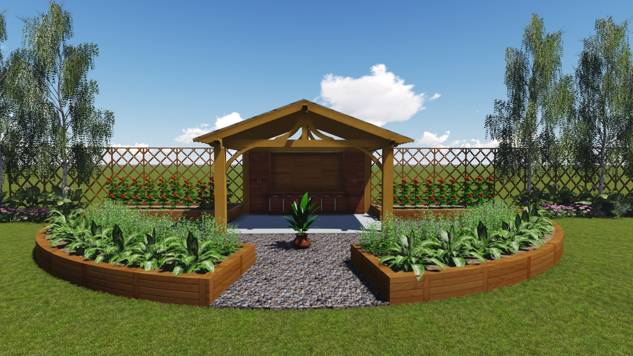 Vegetable Garden and Work Shed