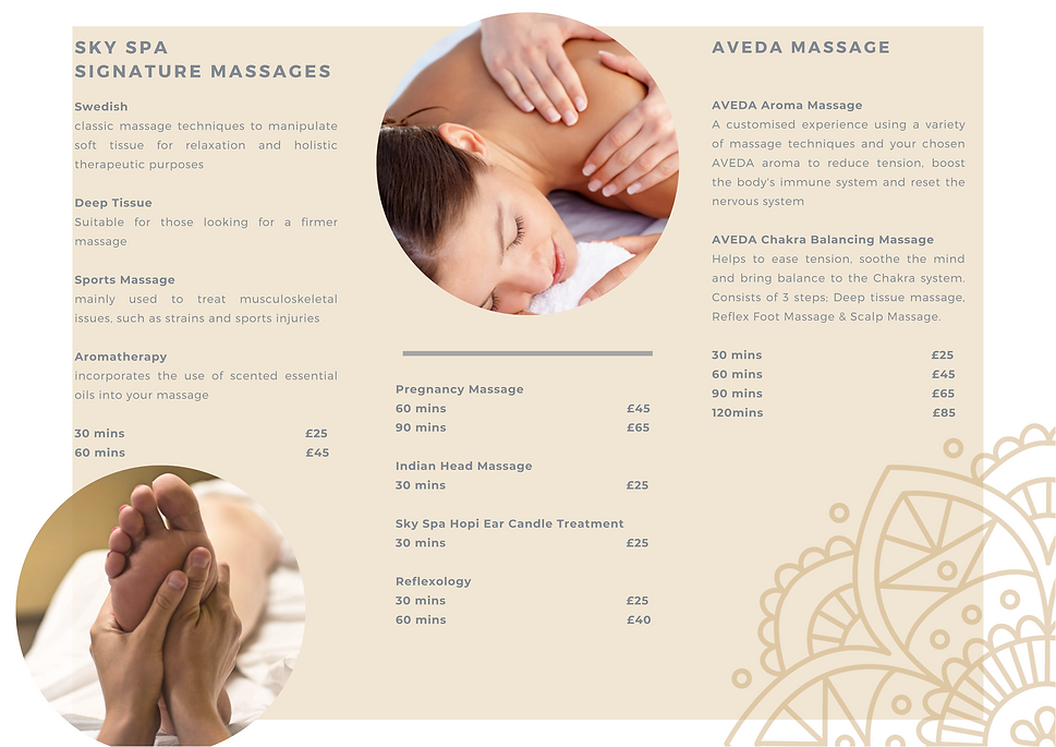 Massage, pregnancy massage, sports massage, deep tissue massage, aromatherapy massage, indian head massage, chakra balancing massage, aveda massage