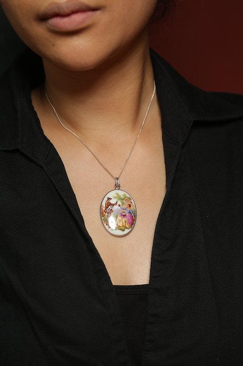 Collier pendentif de Limoges