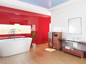 Lustrolite Rouge Bathroom Lifestyle