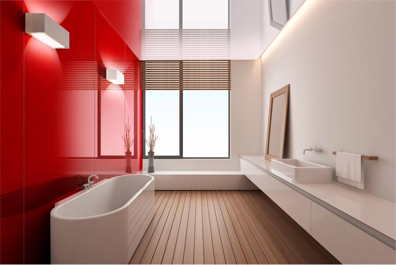Lustrolite Rouge Bathroom Freetstanding
